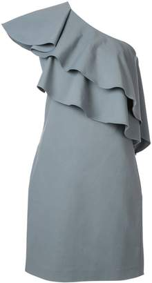 Lanvin ruffled asymmetric dress
