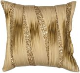 Kas Ruffles 18-Inch Square Throw Pillow in Gold