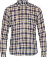 Oliver Spencer Round-collar cotton and linen-blend shirt