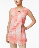 JM Collection Printed Keyhole Top, Only at Macy's
