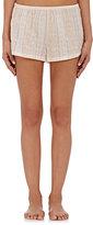 Skin Women's Striped Plissé Pajama Shorts-PEACH