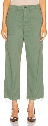 Mother Patch Pocket Private Ankle Fray in Army Green | FWRD