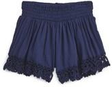 Flowers by Zoe Girl's Crochet Trim Shorts