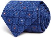 Turnbull & Asser Square Floret Medallion Wide Tie