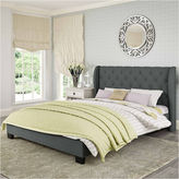 Asstd National Brand Fairfield Tufted Fabric Tufted Bed