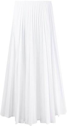 Valentino High-Waisted Pleated Midi Skirt