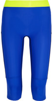 Monreal London Cropped Paneled Stretch-jersey Leggings - Cobalt blue