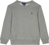 Ralph Lauren Grey Ribbed Crew Neck Sweatshirt 2-7 Years