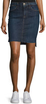 Frame Le Staggered Denim Mini Skirt, Catamaran