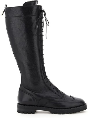 L'Autre Chose Knee-High Round-Toe Boots