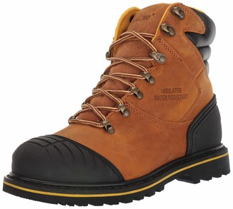 "AdTec 7"" Men's Work Boots Steel Toe Full Grain Leather Leather Slip & Acid Resistant Outsole Cap Durable Construction Shoes Good Year Welt"