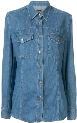 Versace Pre-Owned Long Sleeve Denim Shirt