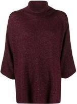 Etro metallic knit roll-neck jumper