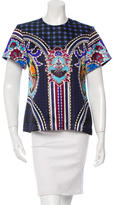 Mary Katrantzou Printed Short Sleeve Top