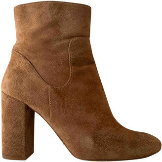 Massimo Dutti Beige Suede Boots