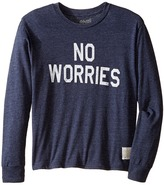 The Original Retro Brand Kids No Worries Long Sleeve Tri-Blend Tee (Big Kids)