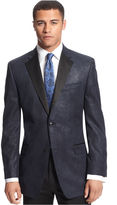 Sean John Jacket, Navy Paisley Sportcoat Big and Tall