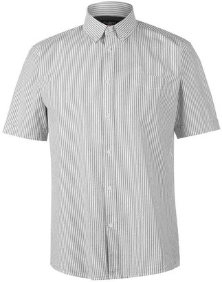 Pierre Cardin Seer Stripe Short Sleeve Shirt Mens