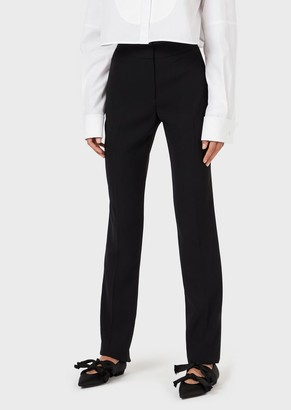 Emporio Armani Technical Crepe Cady Trousers
