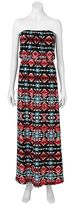 Trixxi geometric maxi dress - juniors