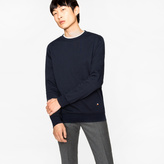 Paul Smith Men's Navy Loopback-Cotton Sweatshirt With 'Rainbow' Motif
