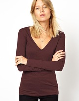 Asos Top with Long Sleeves and V Neck