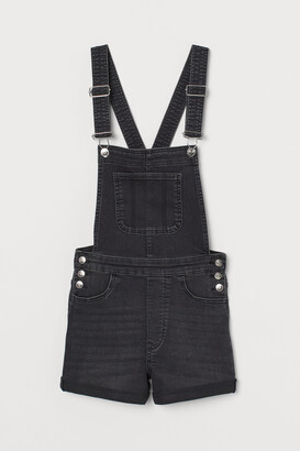 H&M Denim dungaree shorts