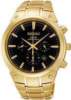 Seiko Men's Stainless Steel Solar Chronograph Watch