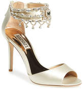 Badgley Mischka &Denise& Crystal Embellished Ankle Strap Sandal (Women)