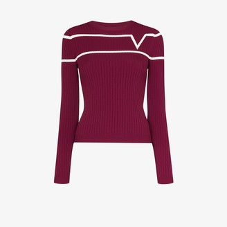Valentino Striped Rib Knit Sweater