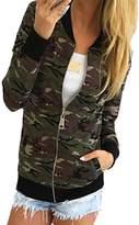 Flank Women Camouflage Jacket Coat Autumn Winter Street Jacket (S, )