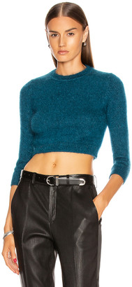 JoosTricot Crop Top Sweater in Teal | FWRD