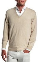 Loro Piana Baby Cashmere V-Neck Sweater, Beige
