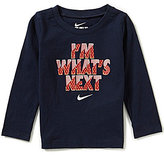 Nike Baby Boys 12-24 Months I'm What's Next Long-Sleeve Graphic Tee