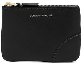 Comme des Garcons Zipped Mini Leather Coin Purse - Black