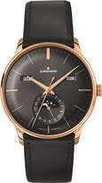 Longines 027/7504.01 Meister Kalendar Leather And Gold-plated Moon Phase Watch