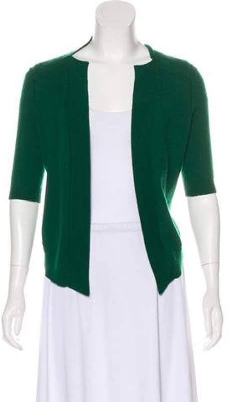 Magaschoni Cashmere Open Front Cardigan Green Cashmere Open Front Cardigan