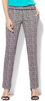 New York & Co. 7th Avenue Design Studio Pant - Runway - Slimmest Fit - Slim Leg - Black & White Print - Tall
