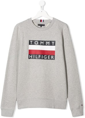 Tommy Hilfiger Junior TEEN Essential logo-print sweatshirt