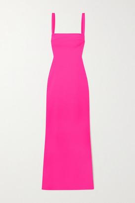 SOLACE London Crockett Cutout Stretch-cady Maxi Dress - Fuchsia