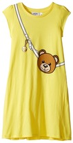Moschino Kids Teddy Bear Purse Graphic Dress (Big Kids)