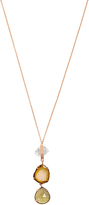 Jacquie Aiche Diamond, quartz, tourmaline, topaz & gold necklace