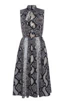 Prada Animal Print Scarf Neck Dress