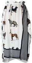 Stella McCartney dog print skirt - women - Silk - 40
