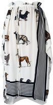Stella McCartney dog print skirt - women - Silk - 42