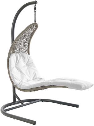 Modway Outdoor Landscape Hanging Chaise Lounge Outdoor Patio Swing Chair