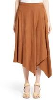 Stella McCartney Women's Faux Suede Asymmetrical Midi Skirt