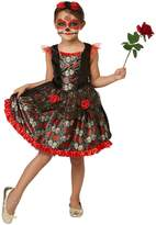 Very Childs Red Rose Day Of The Dead Halloween Costume
