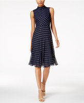 Taylor Dot-Print Tie-Back Dress