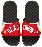 ISlide NBA Retro Legends Hakeem Olajuwon 34 Jersey Slide Sandal, White